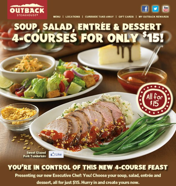 outback 4 course meal