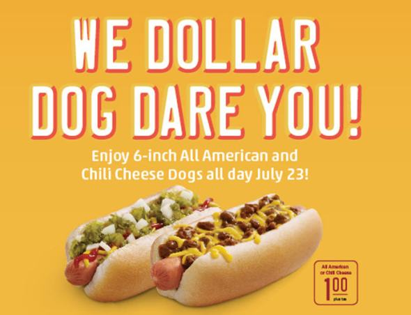 dollar dog day
