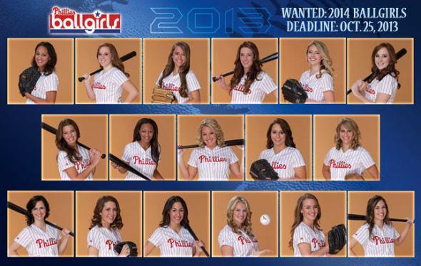 Phillies ball girls