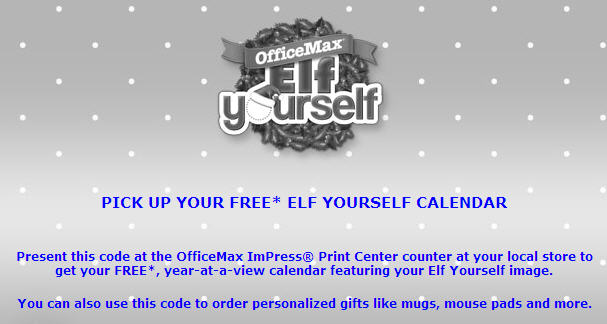 Free 2014 elf yourself calendar from office max coupongy - Office max elf yourself free download ...