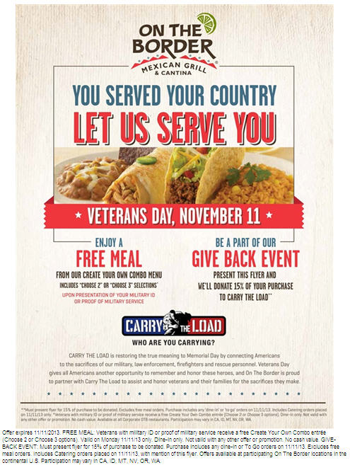 on the border veteran's day