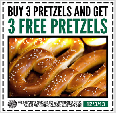 pretzel coupon