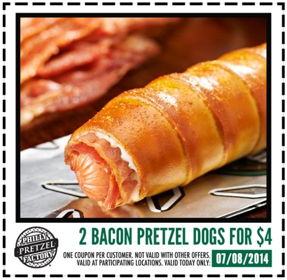bacon pretzel dogs